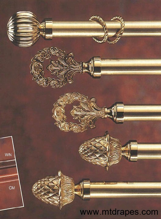 Brass Curtain Rods And Hardware