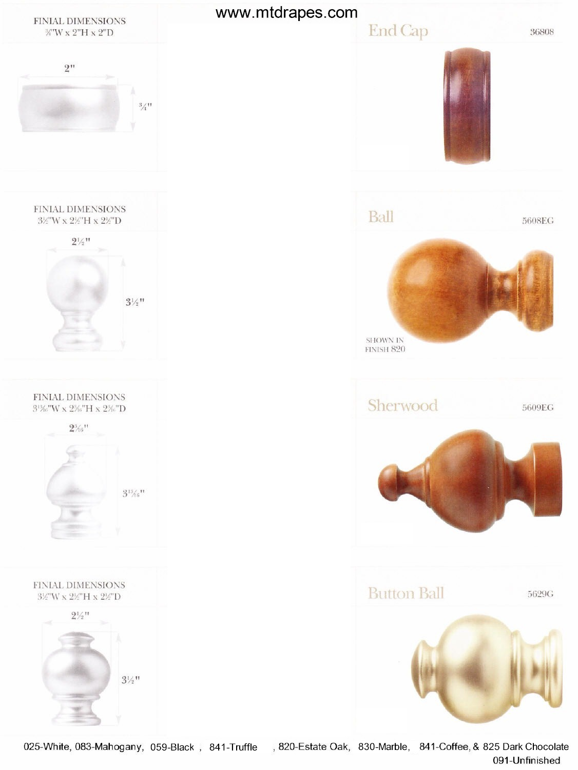 Wood Poles And Finishes Finials